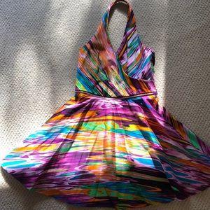 Calvin Klein Summer bright flared dress